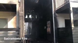 Two-alarm fire damages units at apartment complex near Sac State