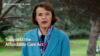 Dianne Feinstein ad touts health care record