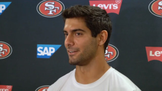 'We've had some battles.' 49ers' Garoppolo on personal and team improvement