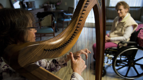 Music creates beauty and healing for end of life care