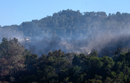 Wildfire grows to 55 acres near Lake Berryessa; homes evacuated, Highway 128 closed