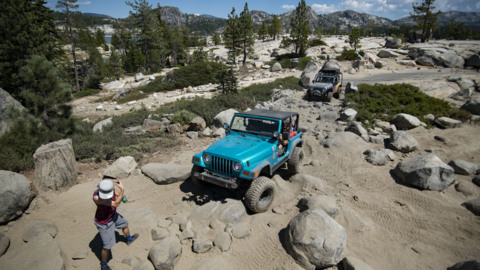 Watch as off-roaders tackle the world-renowned Rubicon Trail in El Dorado County