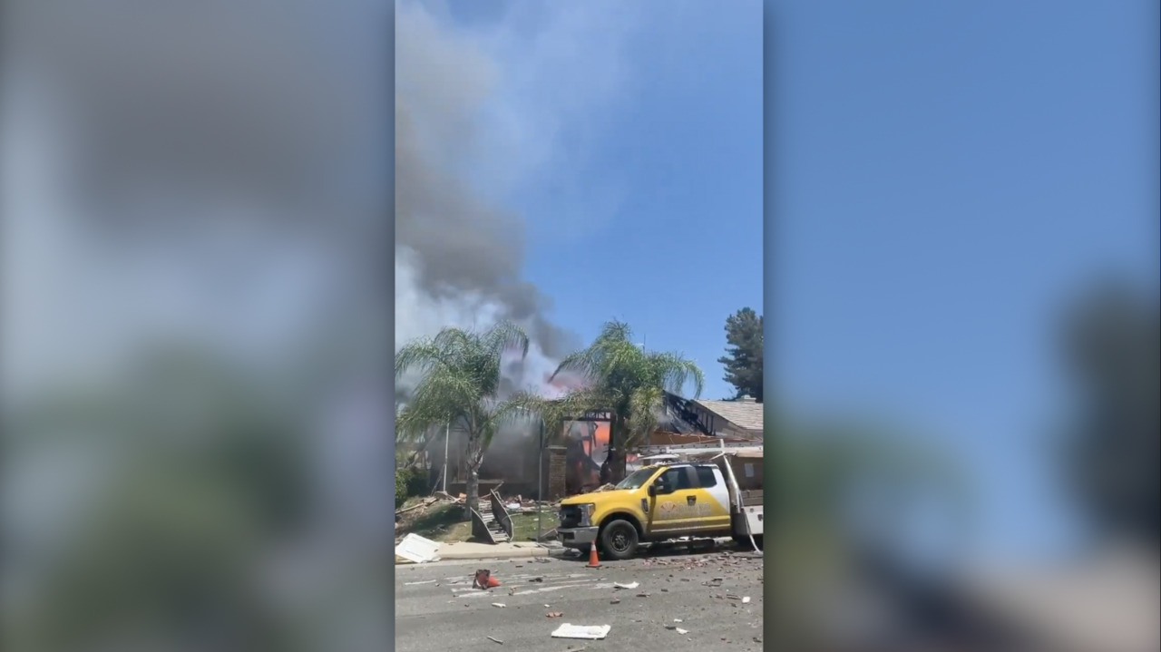See the scene of gas leak explosion in Murrieta, California