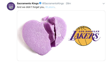 California sports teams share Valentine's Day love on social media