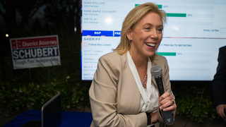 Anne Marie Schubert talks about end of DA race on election night