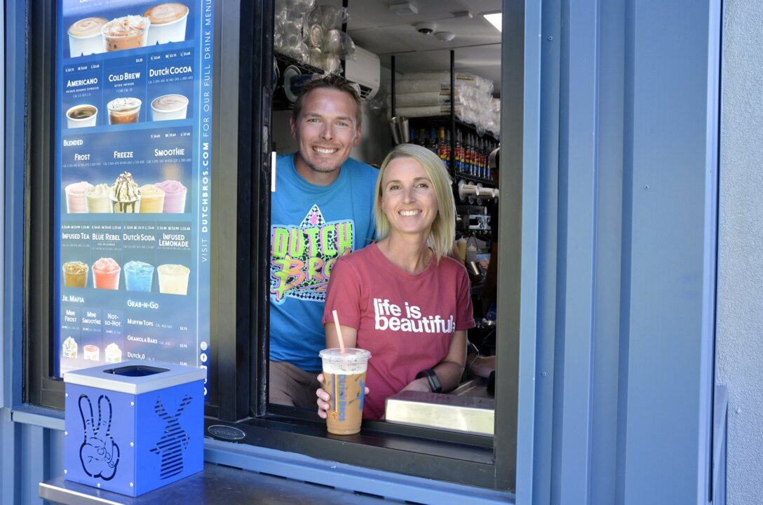 Come for the coffee, stay for the secret menu items at Oakdale's new Dutch Bros kiosk