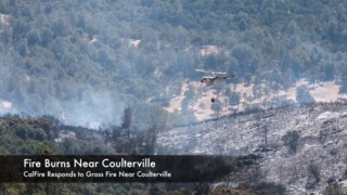 Fire forces evacuations near Coulterville