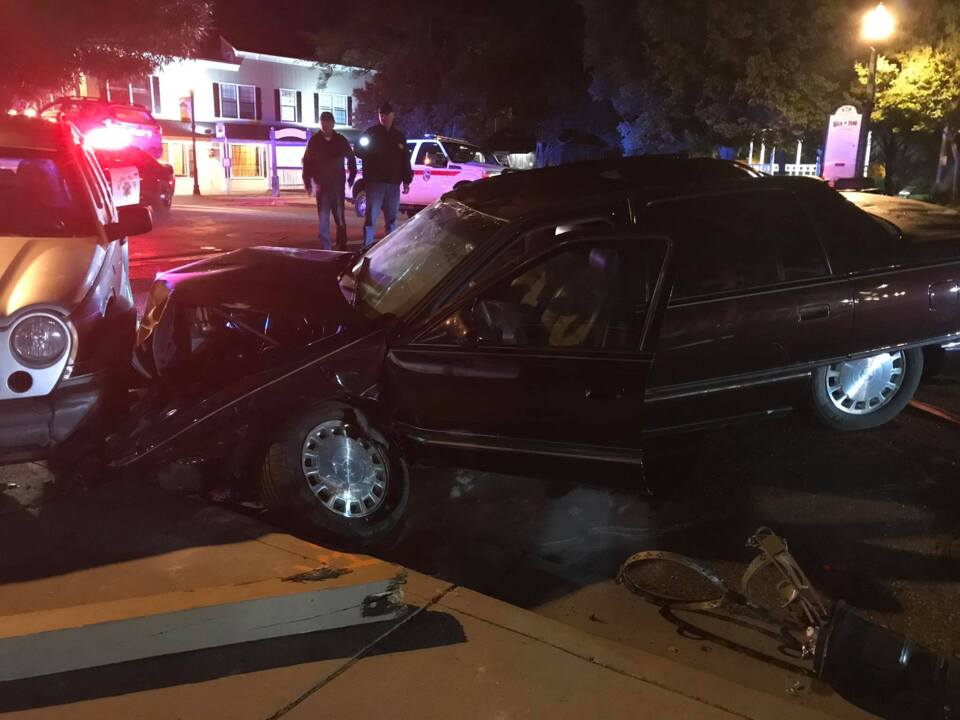 Alleged drunk driver hits cars, buildings in downtown Jamestown, subdued by bystanders