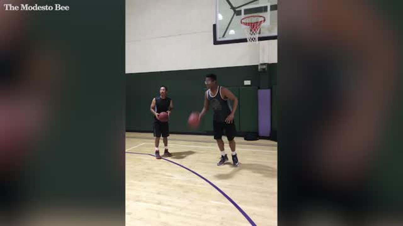 Watch this Modesto Christian High hoop star impressively nail slam ...