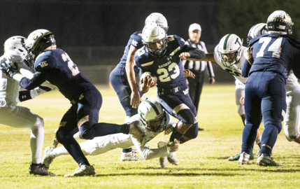 Watch highlights of Central Catholic's 58-14 win over Tracy in the first round of the Division II playoffs