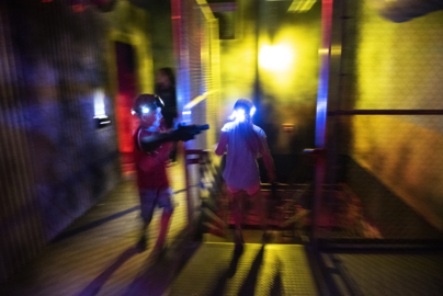 Shoot 'em up safely at Turlock's Ten Pin Fun Center; laser tag arena with tank opens