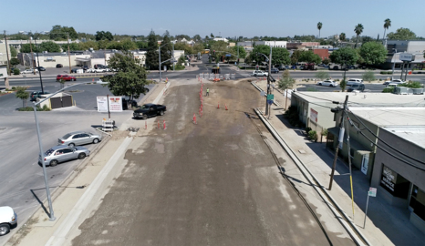 Drone video: Turlock Main Street road project is nearing completion