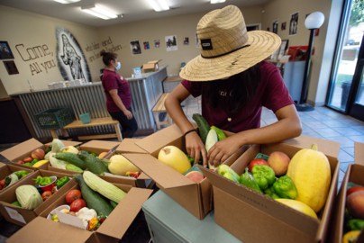 With loss of fair, Westside Ministries youth think inside the box to sell their produce