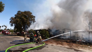 Fast Moving Fire Destroys Home