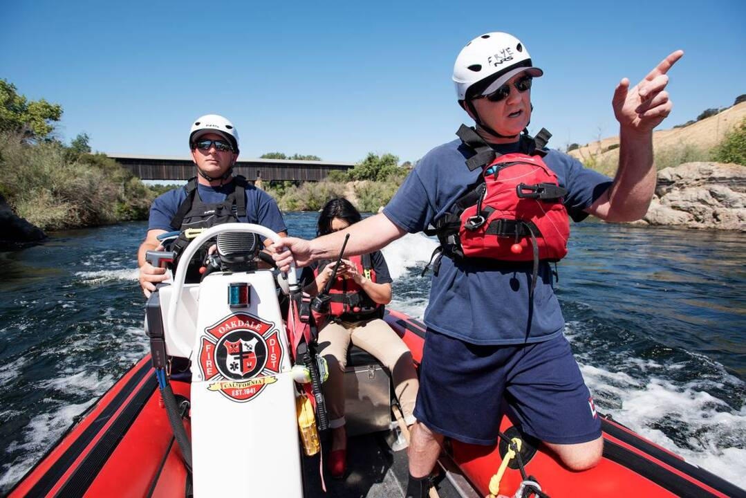Firefighters known for their work on land. But their efforts on water just as crucial.