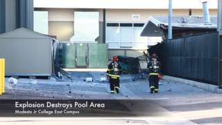 Explosion causes damage at Modesto Junior College