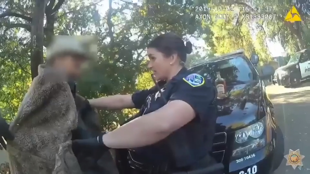 'Creepy critter' leaps at California cop during search of man's coat, video shows