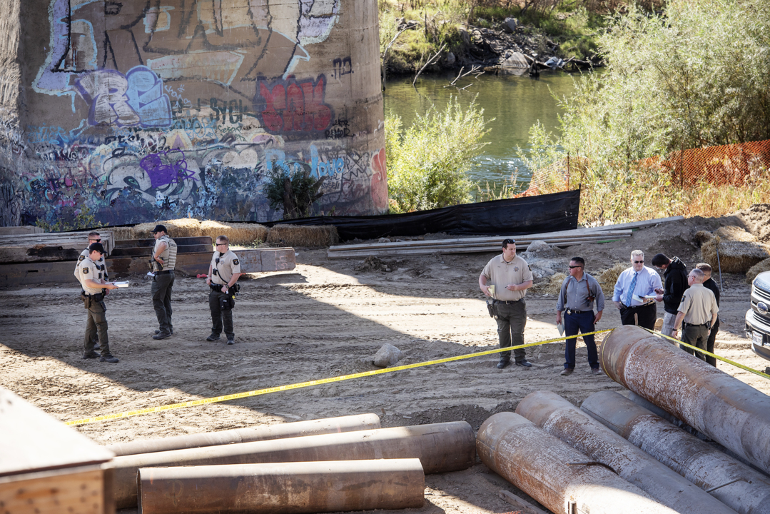 Construction workers discover body of man under bridge south of Empire
