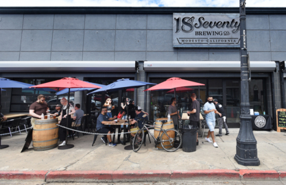 New downtown Modesto brewery 18Seventy opens amid pandemic; outside beer, food served