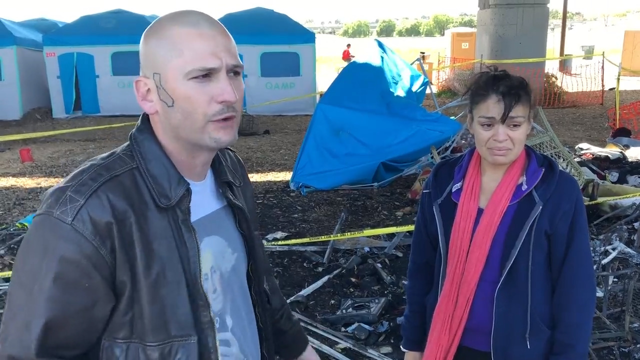 Update: Residents describe chaos, fear as fire destroys tents at Modesto homeless camp