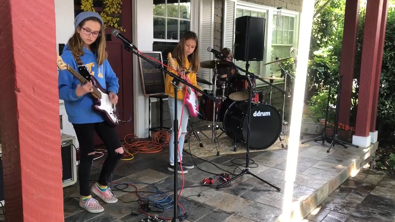 'Soak Up the Sun,' youth rockers sing, as mostly rain-free Modesto Porchfest goes ahead
