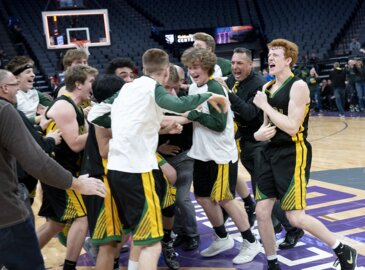 The play-call was to Austin Patterson. He swished a 3-pointer as Sonora won D4 title.