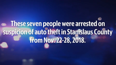 See the auto theft suspects in Stanislaus County between Nov. 22-28
