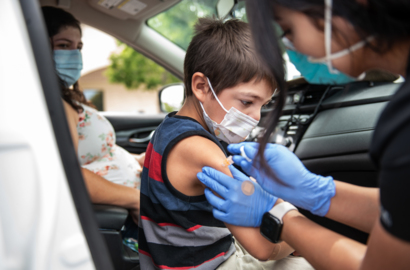 Kids still need shots to enroll in school. Golden Valley offered drive-through vaccines