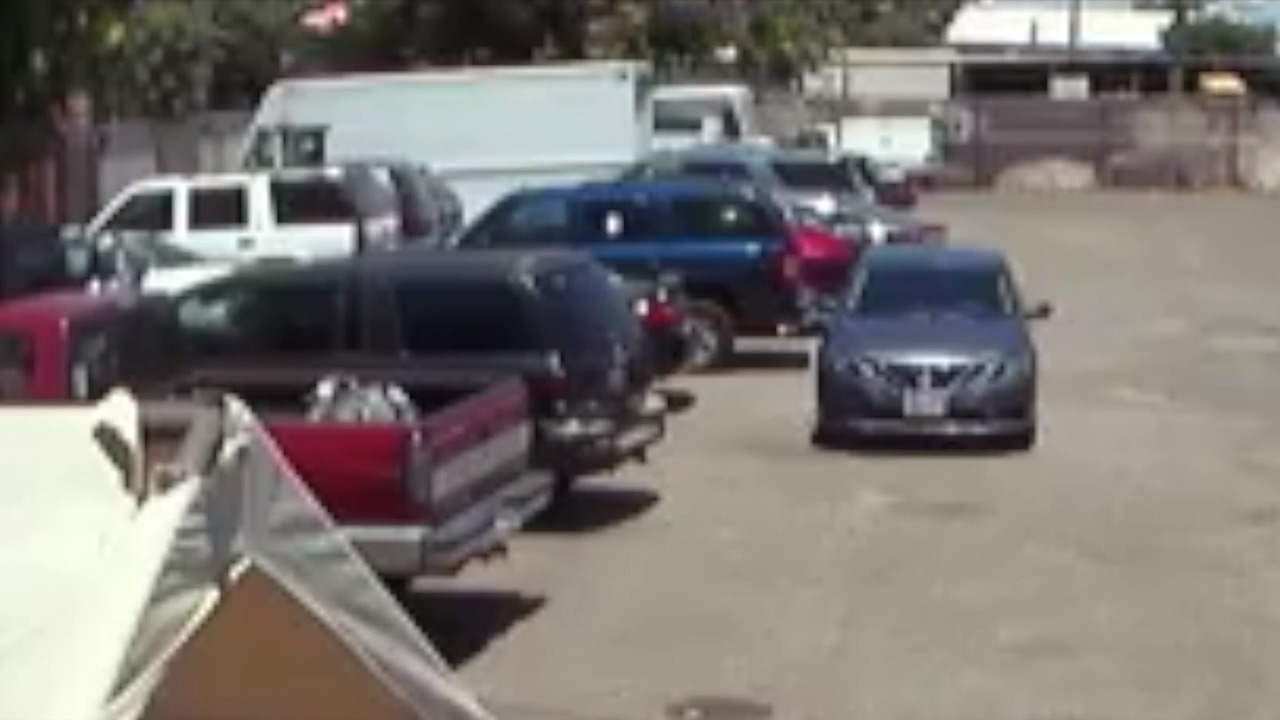 Watch Suspect Toss Molotov Cocktail Into Modesto Pallet Yard The