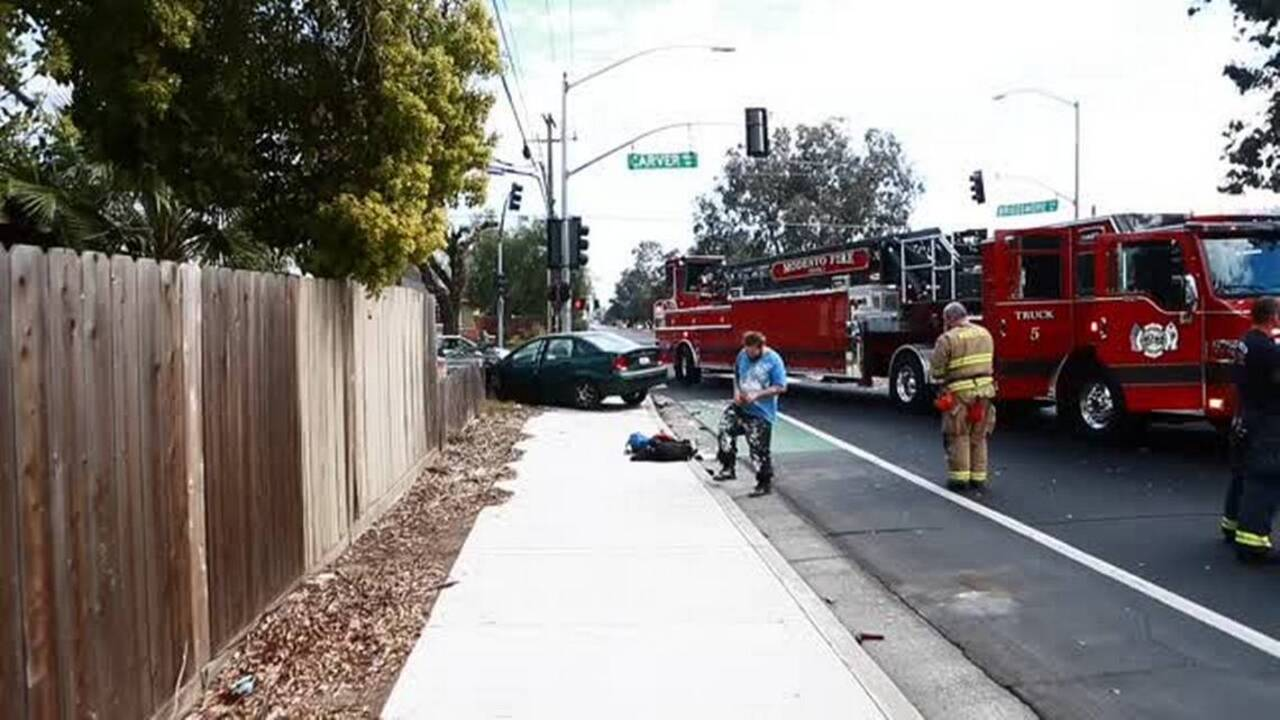 Modesto Fire Department engine involved in accident | Tacoma