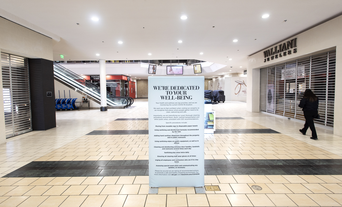 Image result for Modesto's Vintage Faire Mall still open despite stay at home order, most shops closed