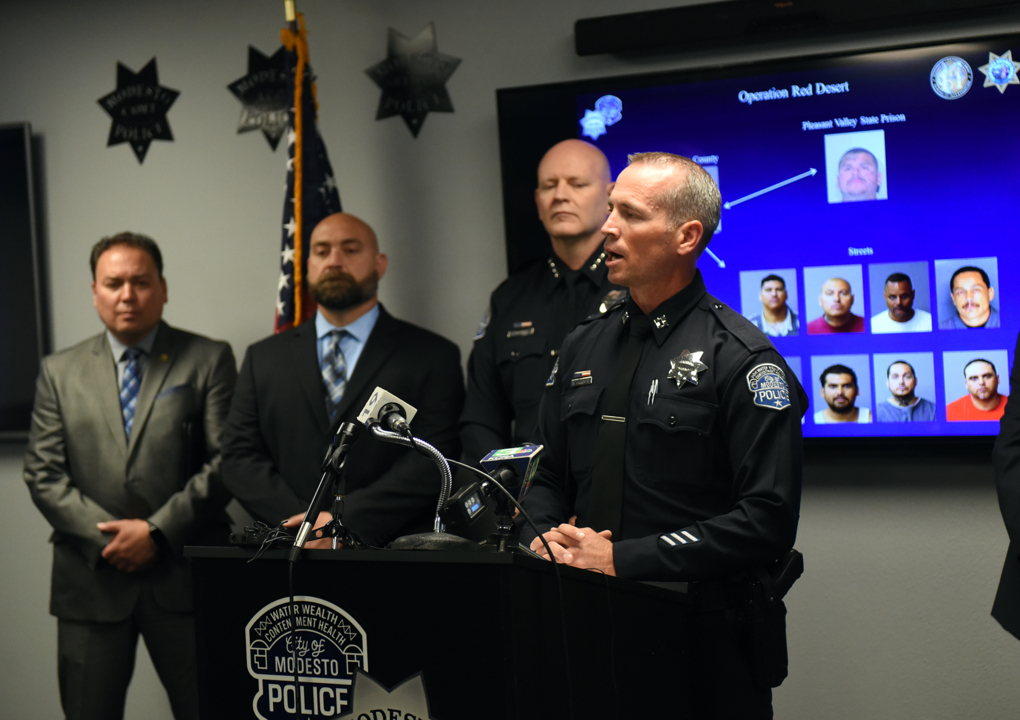 Watch Modesto police discuss gang sweep operation | Modesto Bee