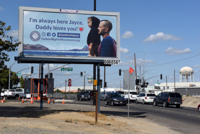 Father charged with kidnapping his son rents roadside billboard to send him a message