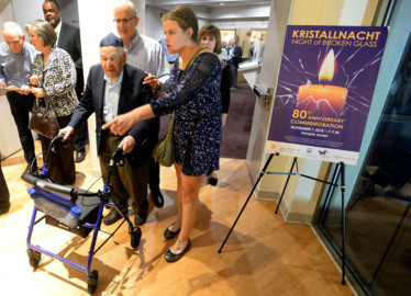 Temple Israel remembers Kristallnacht, The Night of Broken Glass
