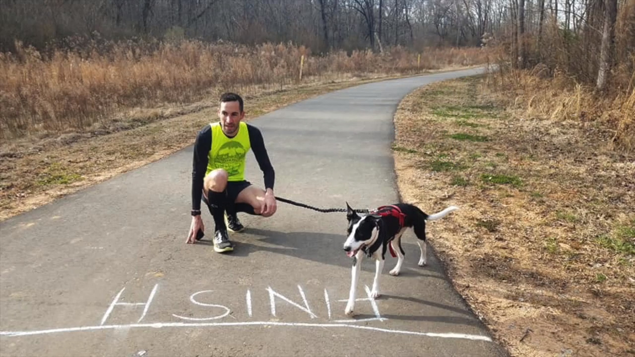 Man, dog team up to run a 3:59 mile  Is it a world record