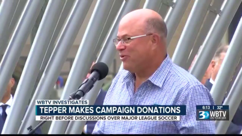 Charlotte elected leaders received donations from Panthers brass right before MLS talks