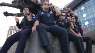 Charlotte police join in the lip-sync challenge.