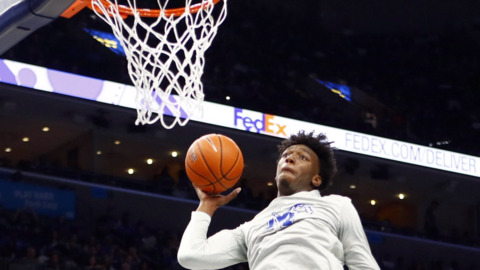 The Charlotte Hornets have an eye on former Memphis Center James Wiseman ahead of draft