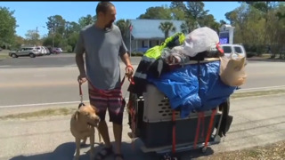 Homeless man and dog have moved to Myrtle Beach, S.C.