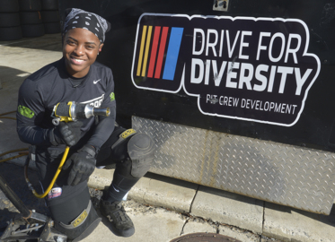 Brehanna Daniels, first African-American woman to work on NASCAR pit crew