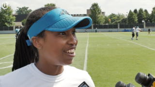 Jennifer King on her coaching internship with the Panthers and women in sports
