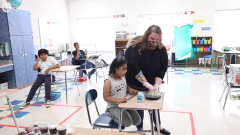 CMS teachers welcome students for in-person learning