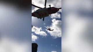 NC man rescued by helicopter from Irish castle