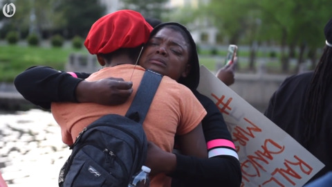Questions over police shooting remain at uptown rally after release of video