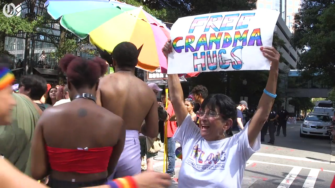At Charlotte Pride, it's 'free mom hugs' versus 'Bible-believing Christians'