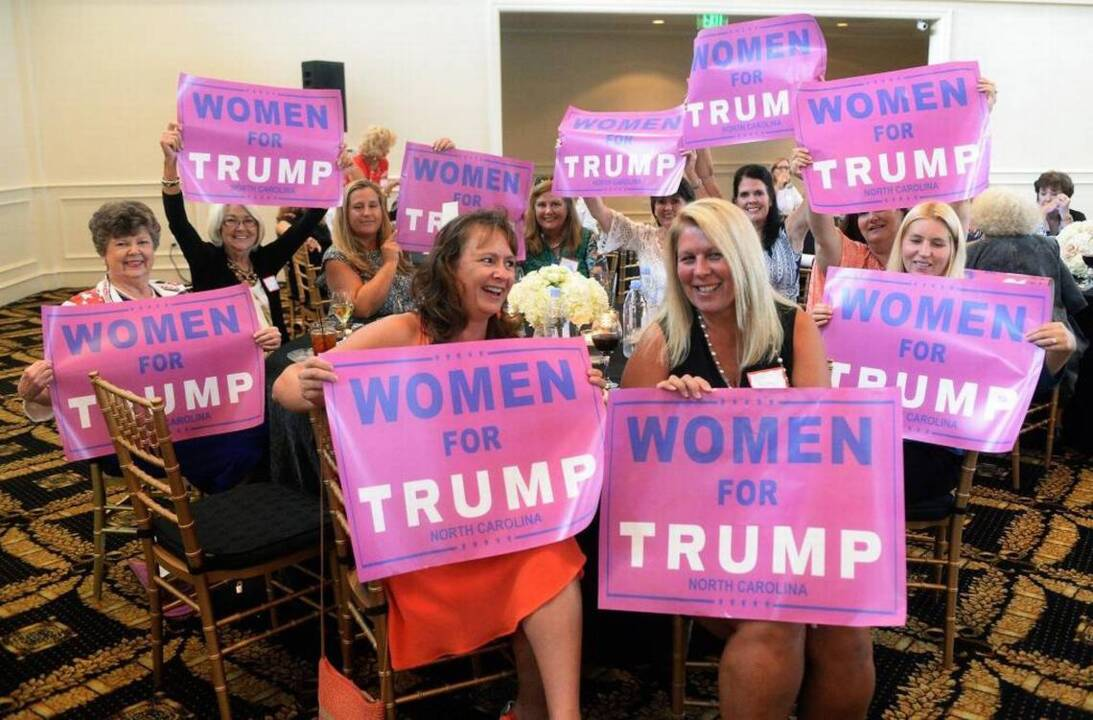 Trumps Support Among Women Elusive But Enthusiastic  Charlotte Observer-9643