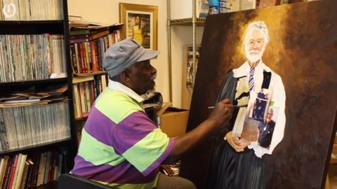 Portrait painter Tommie Robinson talks about his experience as a Charlotte artist