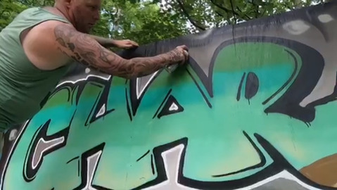 Artists create murals to provide comfort, healing after deadly UNC Charlotte shooting