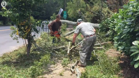 Residents, city crews work to recover from storms that left thousands without power