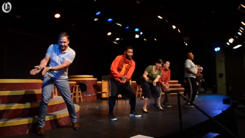 Actors rehearse last Pease Auditorium show at CPCC